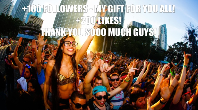+ 100 Followers, + 200 Likes! Thank you so much! <3